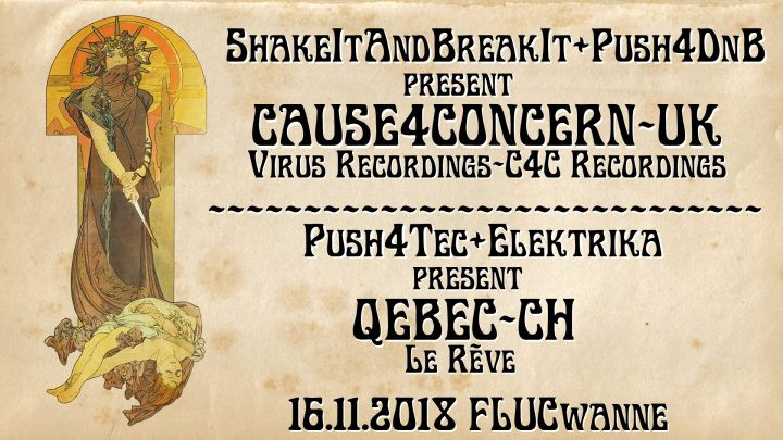 Push 4 Dnb & Shake it and Break it pres.: Cause4Concern am 16. November 2018 @ Fluc Wanne.
