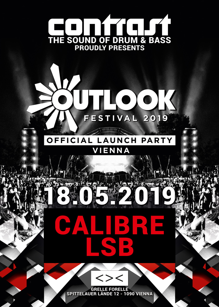 Contrast pres. Outlook Festival Launch Party Vienna 2019 am 18. May 2019 @ Grelle Forelle.