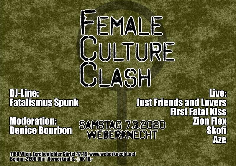 Female Culture Clash am 7. March 2020 @ Weberknecht.