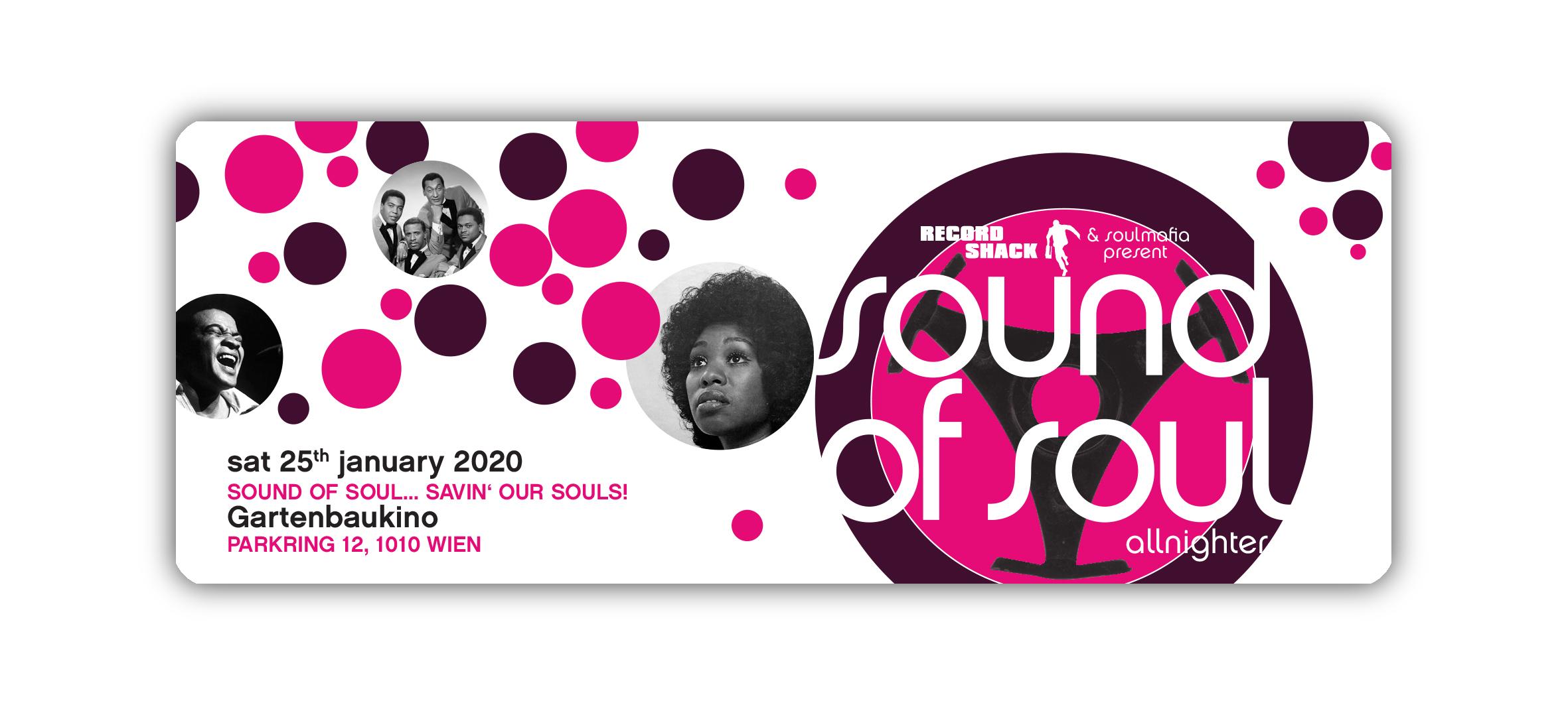 Sound Of Soul '20 All-Nighter am 25. January 2020 @ Gartenbaukino.