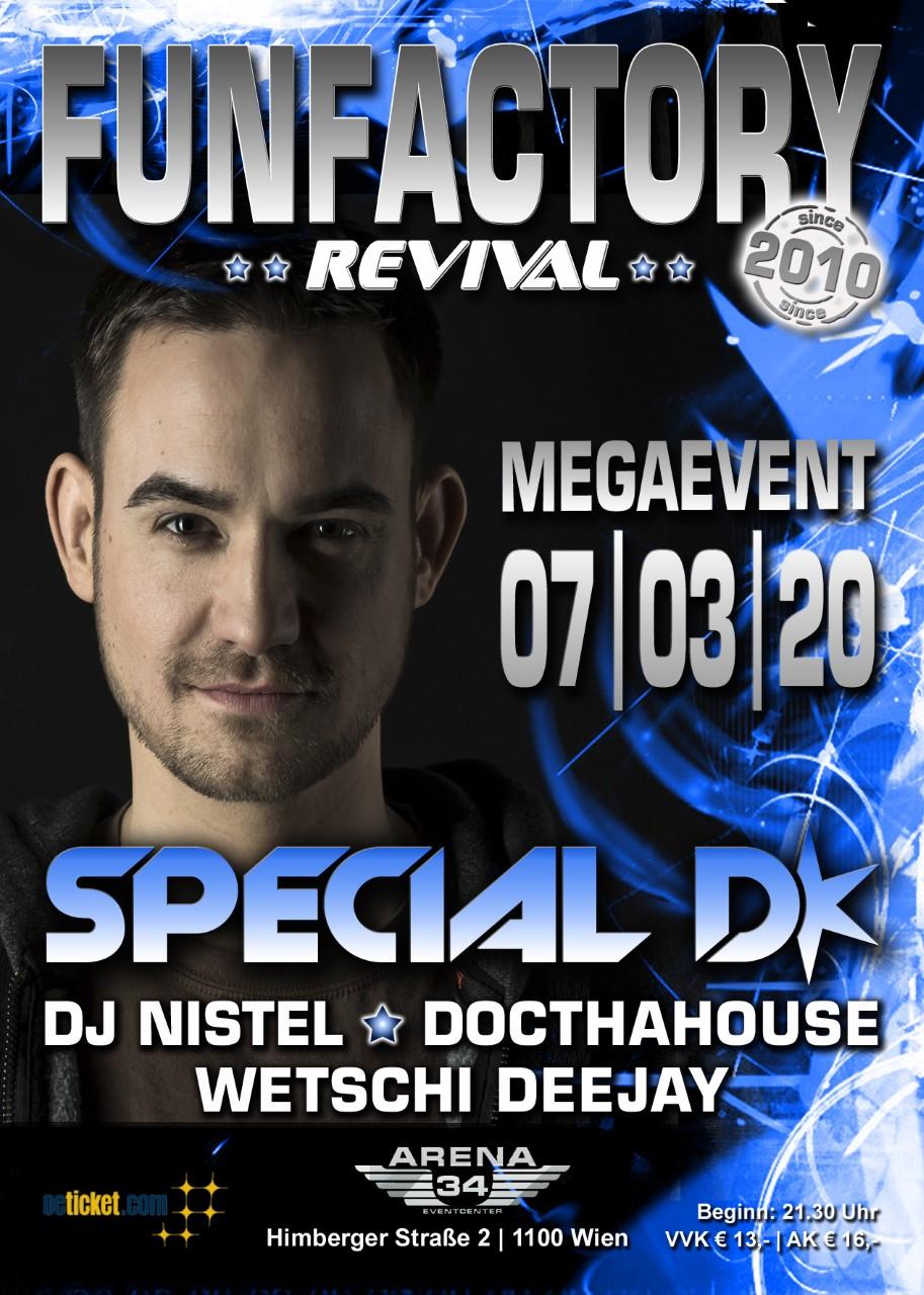 FunFactory Revival | Megaevent - Special D am 7. March 2020 @ Arena 34.