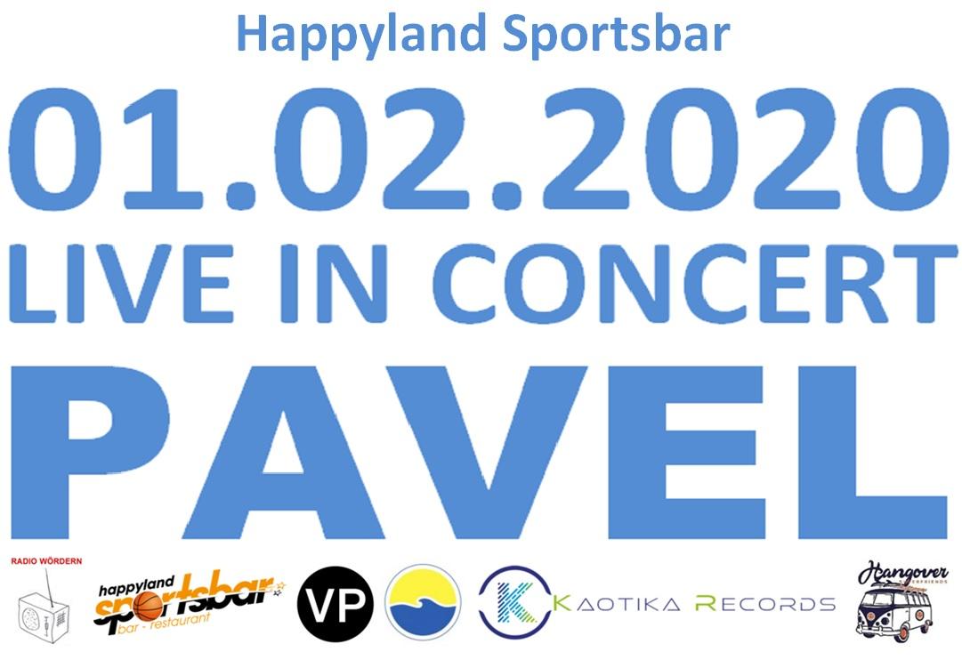 PAVEL & BAND am 1. February 2020 @ Happyland Klosterneuburg.