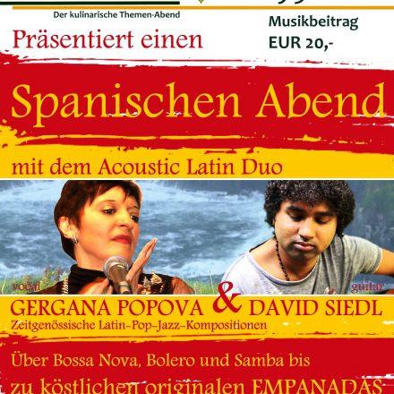 Ein Spanischer Abend im GenussSpiegel - Gergana POPOVA & David SIEDL