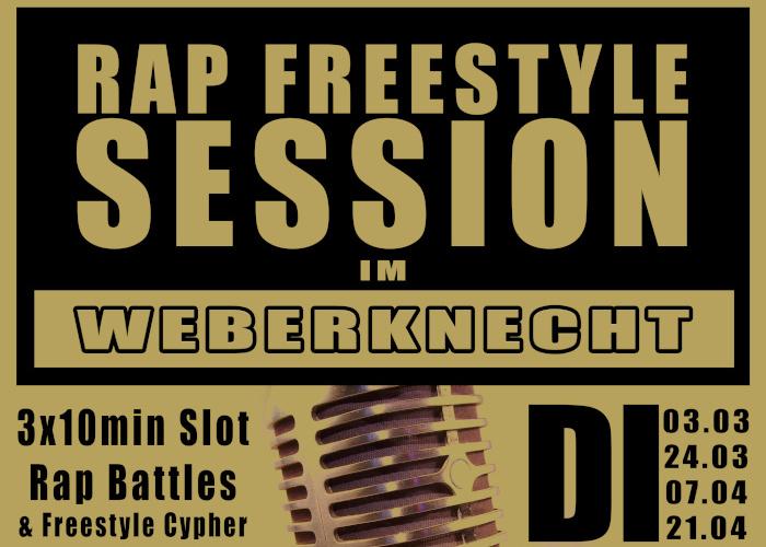 Rap Session im Weberknecht am 3. March 2020 @ Weberknecht.