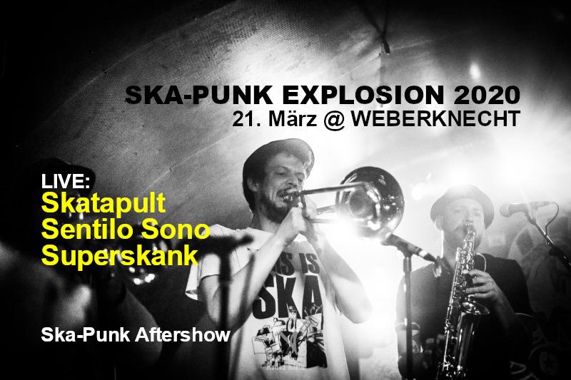 Ska-Punk Explosion 2020 am 21. March 2020 @ Weberknecht.