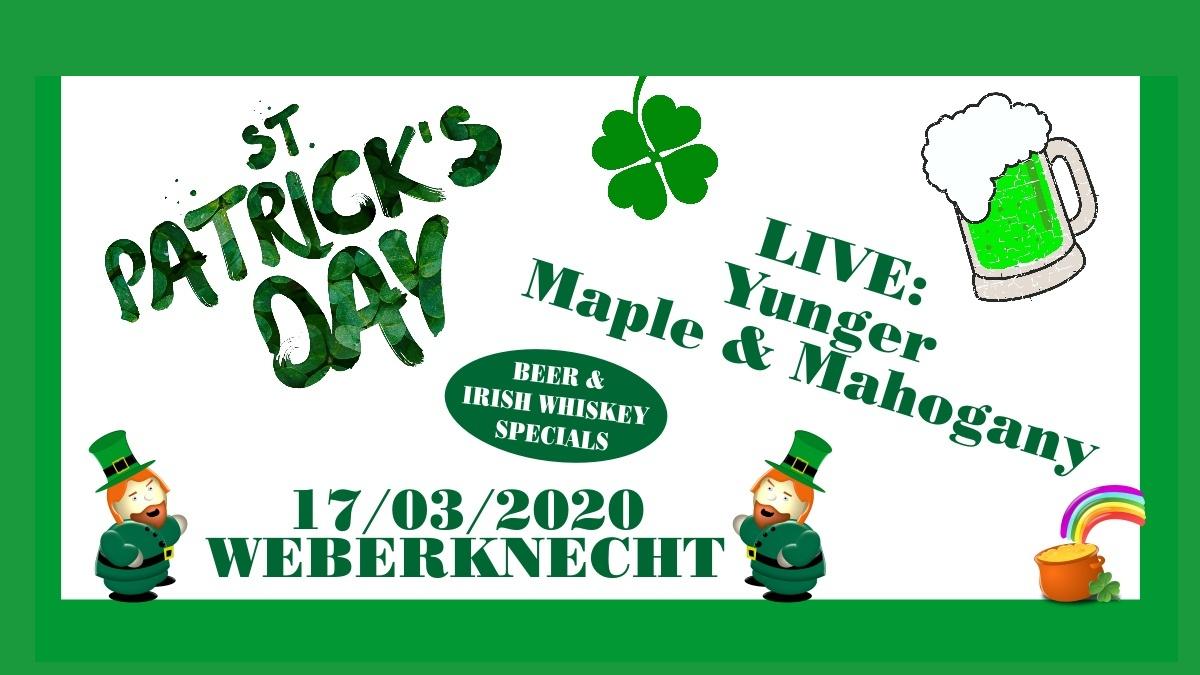St. Patrick's Day Party am 17. March 2020 @ Weberknecht.