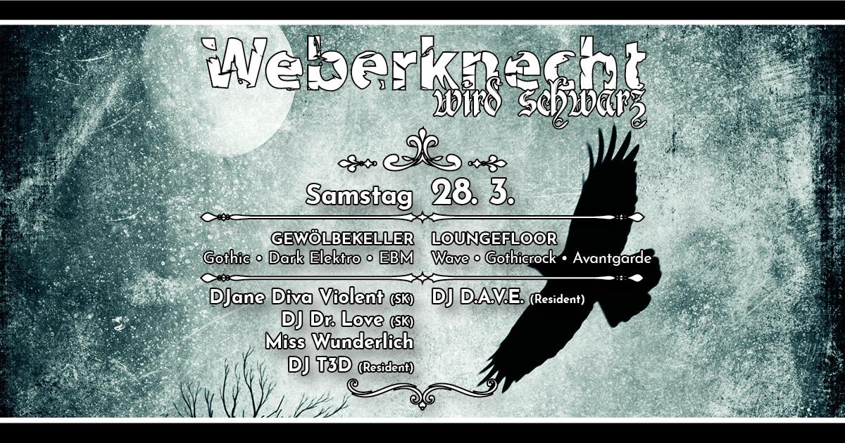 Weberknecht wird schwarz am 28. March 2020 @ Weberknecht.