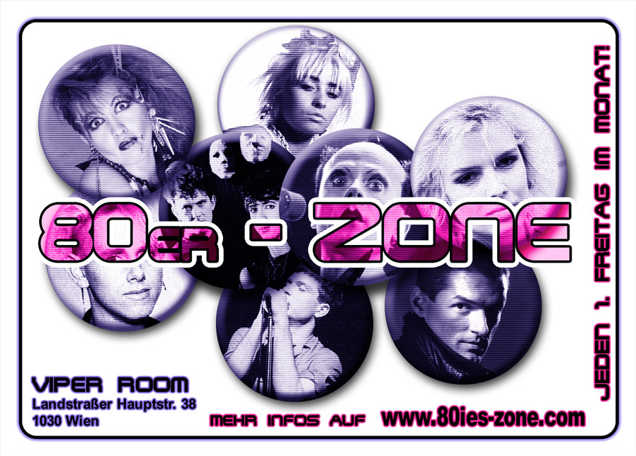 80er-Zone / Pop, Wave & Underground am 2. November 2018 @ Viper Room.