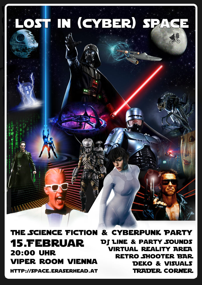 Lost in (Cyber) Space - The Science Fiction & Cyberpunk Party am 15. February 2020 @ Viper Room.