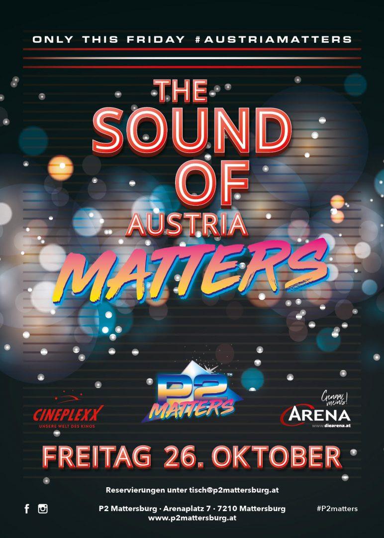 The Sound Of Austria // im P2 Mattersburg am 26. October 2018 @ P2 Mattersburg.