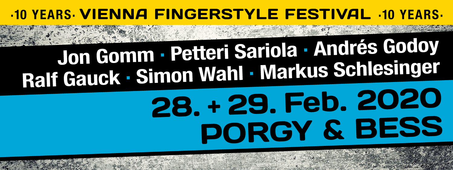 Vienna Fingerstyle Festival 2020 am 28. February 2020 @ Porgy & Bess.