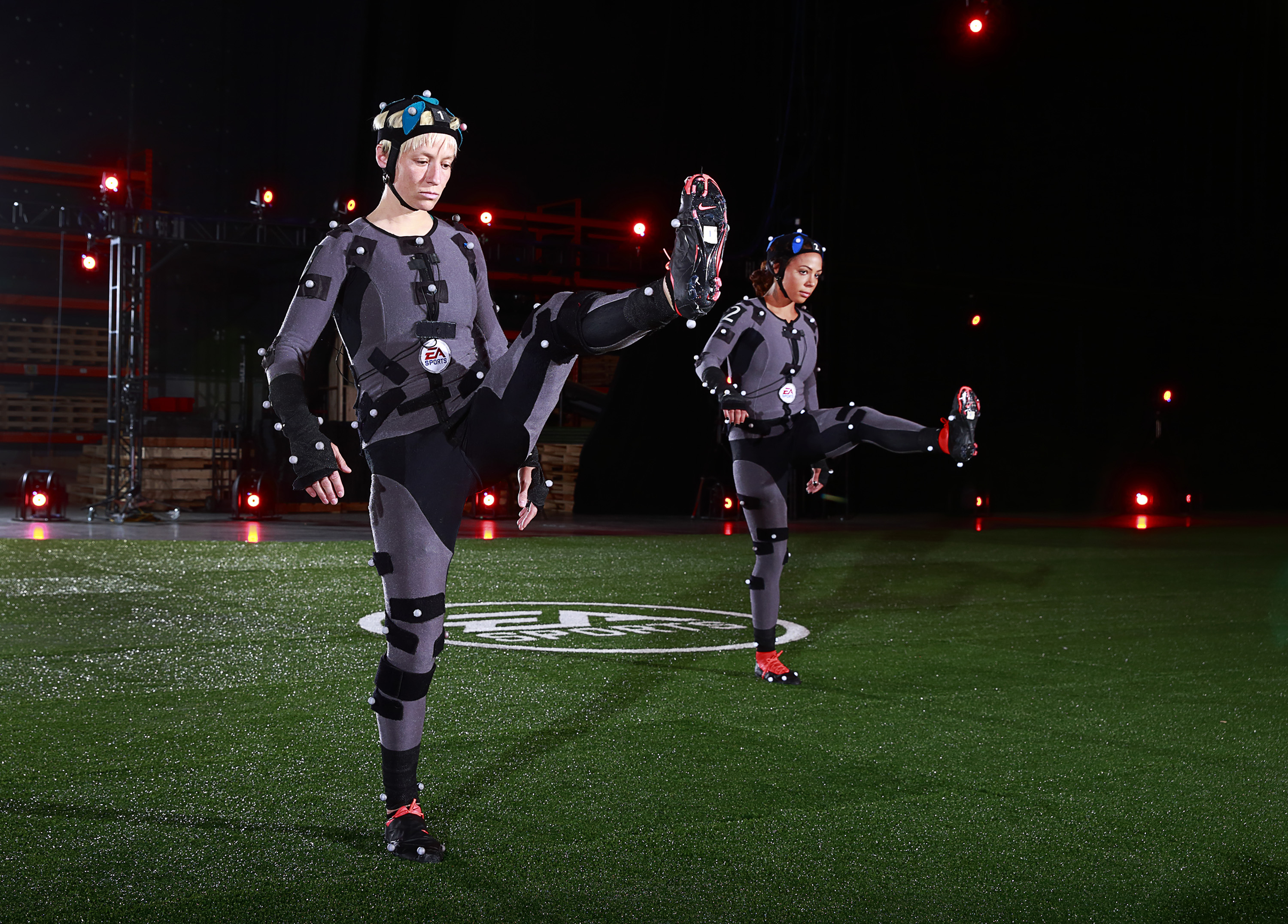 USA Women's Soccer Team visits the EA MOCAP facility at EA Canada in Burnaby
