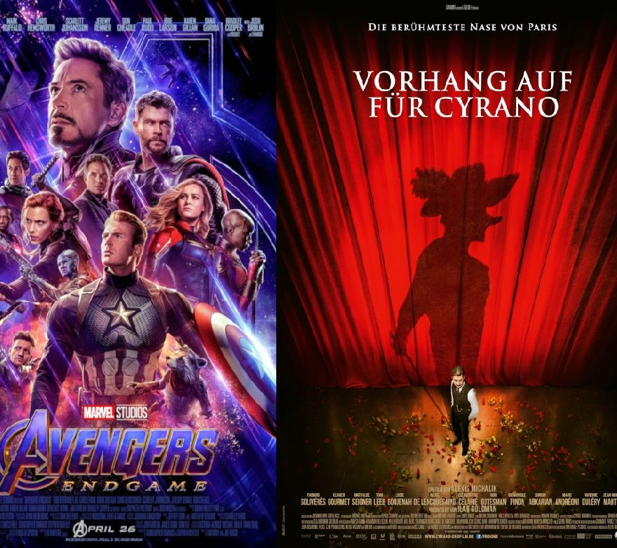 The Avengers: Endgame | Ein letzter Job | Tea with the Dames | Vorhang auf für Cyrano - alles Leinwand!