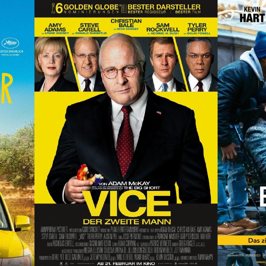 Vice – der zweite Mann | Drei Gesichter | Mein Bester und ich - alles Leinwand!