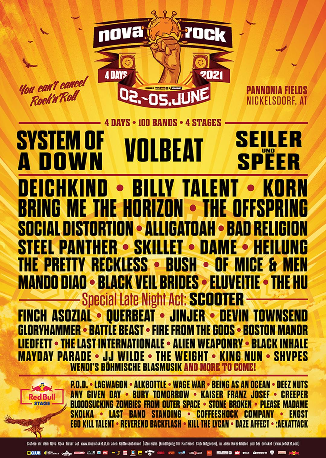 Rock In Vienna Line Up