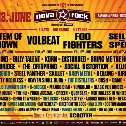 Nova Rock 2020: Line-Up Phase 3