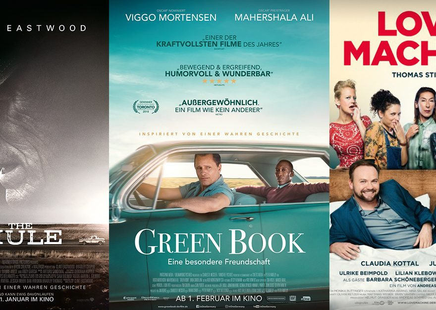 Green Book | The Mule | Love Machine - alles Leinwand!