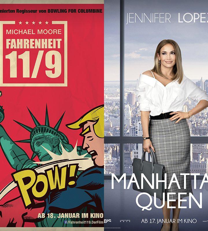 Manhattan Queen   Maria Stuart   Plötzlich Familie   Fahrenheit 11/9 - alles Leinwand!